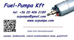 Fuel-Pumpa Kft. Adószám: 24757964-1-42 Közösségi adószám: HU24757964 Cégjegyzékszám: 01-09-180749 Bankszámlaszám: 11600006-00000000-64906117 Székhely: 1171 Budapest Tiszafüred u .8.